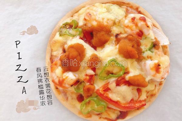 海胆虾仁披萨