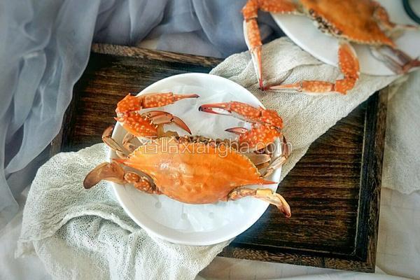 快手原味蒸海蟹