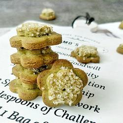 抹茶花形饼干