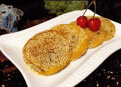 蜜豆南瓜饼