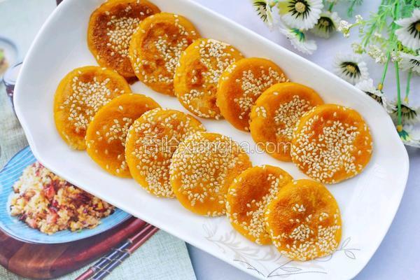 奶香南瓜芝麻饼
