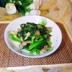 青菜炒平菇的做法[图]