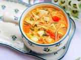 番茄菌菇豆腐汤的做法[图]