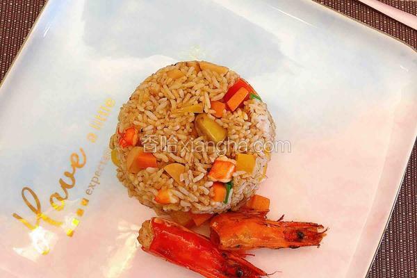 鹅肝虾仁炒饭