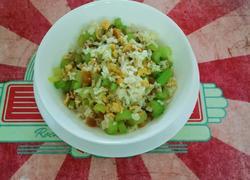 芹菜鸡蛋炒米饭