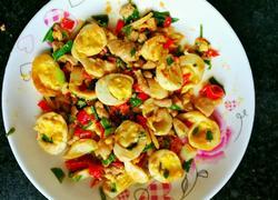 带肉香超级好吃营养简单的炒鹌鹑蛋