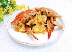 咸蛋黄焗梭子蟹