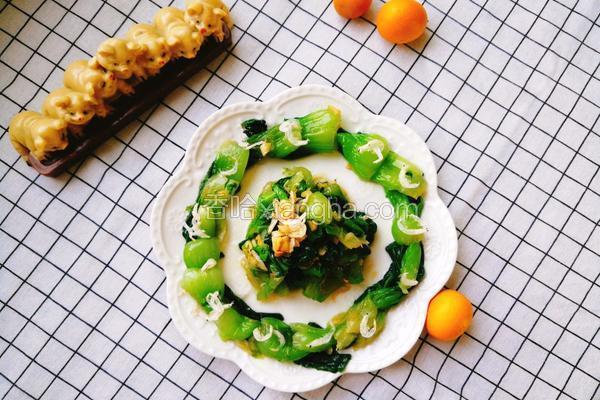 虾皮炝油菜