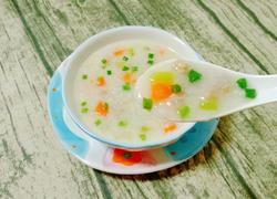 干贝肉沫蔬菜粥