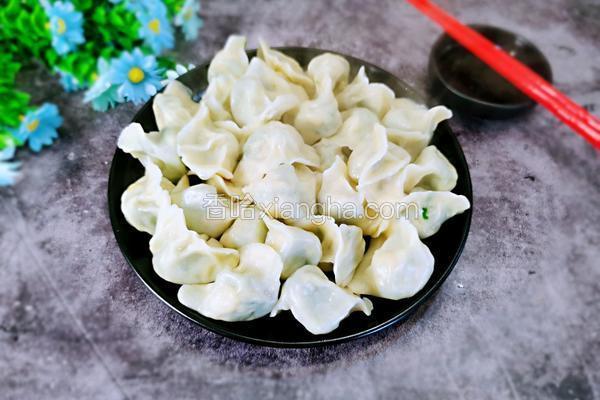 虾皮韭菜鸡蛋饺子