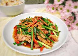 虾菇干炒韭菜