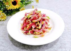金蒜虾皮炝萝卜