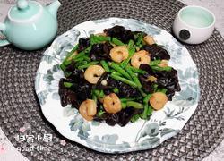 虾仁木耳烩豇豆(清脂减肥)