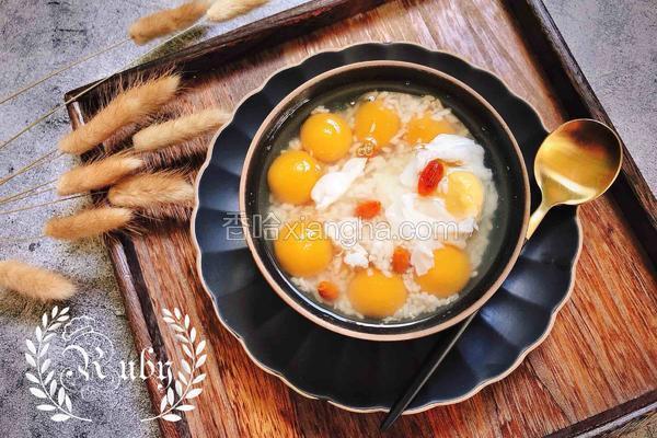 养颜润燥 酒酿水波蛋南瓜圆子汤