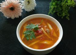 番茄肉丝茭白汤