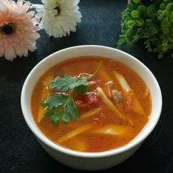 番茄肉丝茭白汤的做法[图]