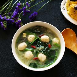 菠菜丸子粉丝汤的做法[图]