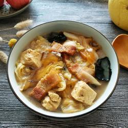 白菜五花肉炖冻豆腐的做法[图]