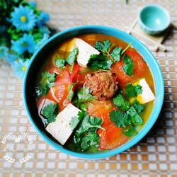 西红柿白菜豆腐汤