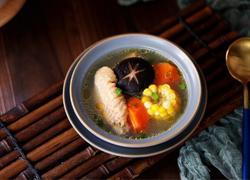 香菇玉米胡萝卜鸡汤