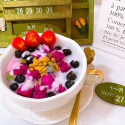 珍珠火龙果甜品