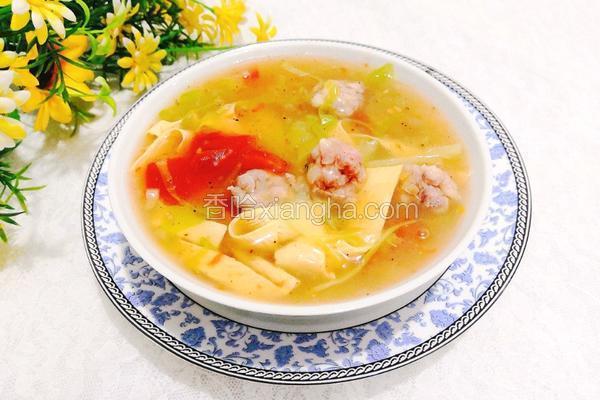 蔬菜丸子胡辣汤