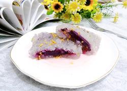 桂花西米紫薯糕