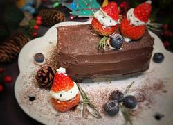 圣诞树根蛋糕卷