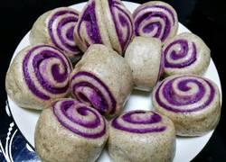 紫薯全麦营养花卷