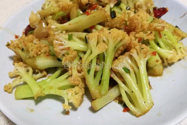 家常炒花菜