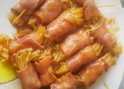 培根金针菇卷卷