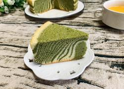 抹茶斑马纹戚风蛋糕