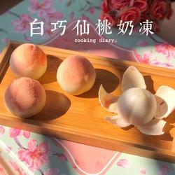 白巧仙桃奶冻