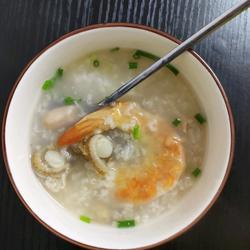蝦干元貝粥的做法[圖]