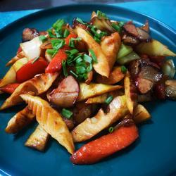 春笋炒腌肉的做法[图]