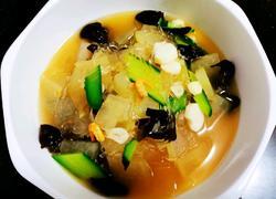 冬瓜山药木耳海米粉丝汤
