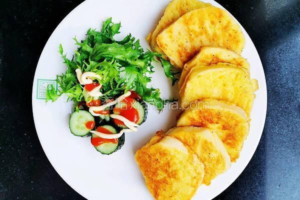 简易健康早餐鸡蛋馒头片