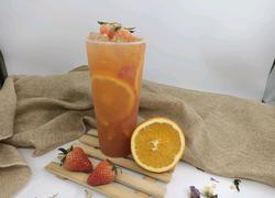 喜茶同款|橙香草莓果茶