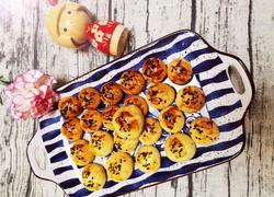 海苔芝麻肉松饼