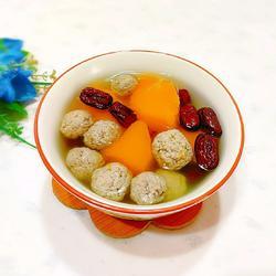 南瓜牛肉丸子湯的做法[圖]