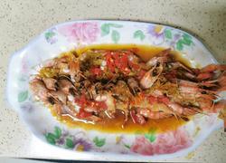 清蒸蒜香黑虎虾