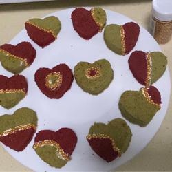 红丝绒抹茶奶油蛋糕(心心相印)