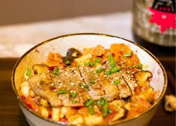 茄汁菌菇猪扒饭