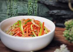 芦笋胡萝卜炒肉丝