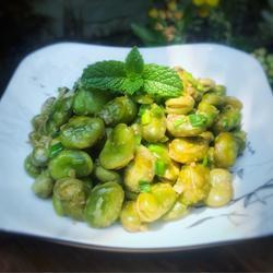 蔥油蠶豆的做法[圖]