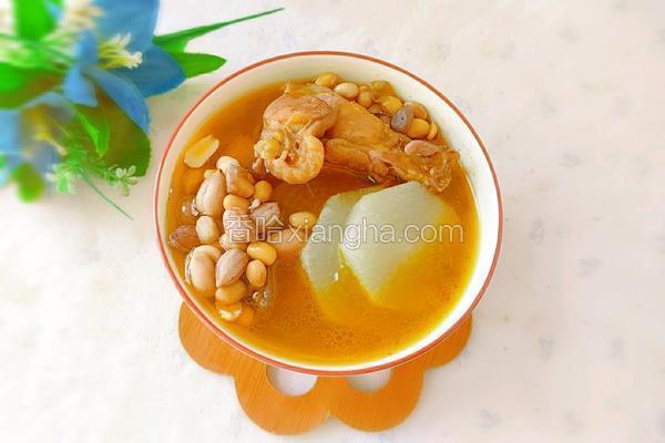 花生黄豆白萝卜鸡汤