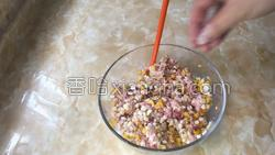 南瓜杏鲍菇肉丸子的做法图解3