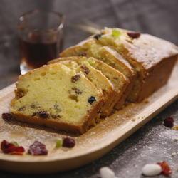 酒浸水果磅蛋糕