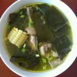 海帶枸杞排骨湯的做法[圖]