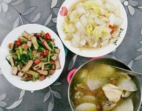 两菜一汤[图]